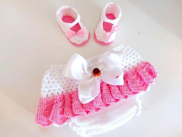DIY Braguita cubrepañal tejido a crochet