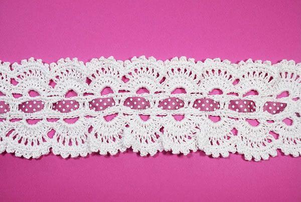Diadema cinta vintage tejida a crochet