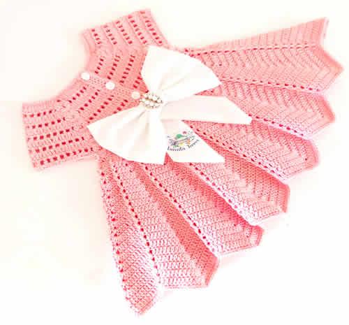 DIY Vestido niña tejido a crochet o ganchillo
