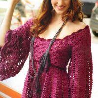 Blusa tejida a crochet con patrón