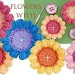 DIY Flores a Crochet 3D con botones