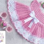 Vestido para bebé a crochet