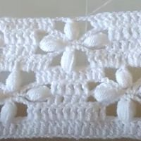 Punto fantasía a crochet para mantas