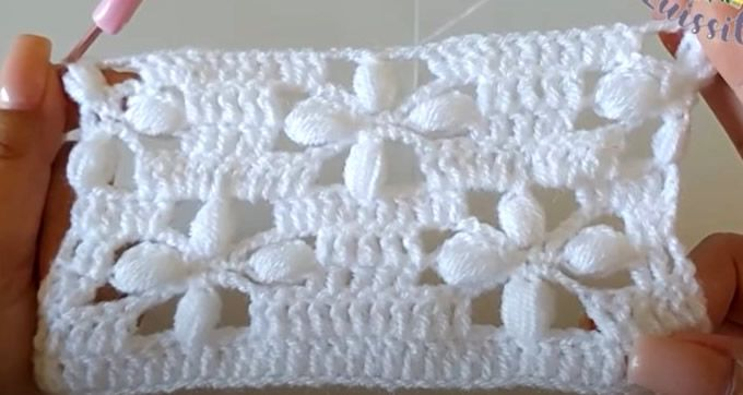 Punto fantasía tejido a crochet paso a paso