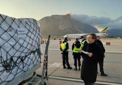 Coronavirus, arrivano in Sicilia 40 tonnellate di dispositivi di protezione