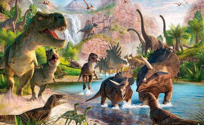 [Recuerdos en láminas] Dinosaurios: Entretenimiento prehistórico