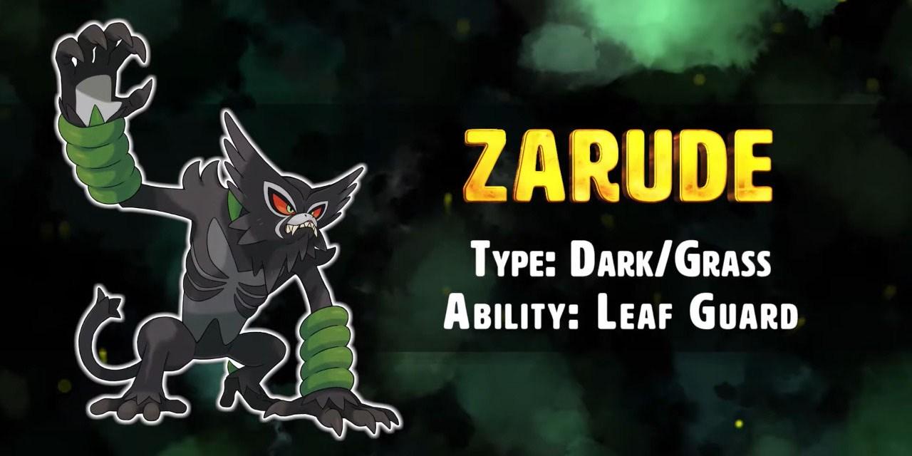 Conoce a Zarude, el nuevo Pokémon singular