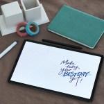 Trucos de caligrafía en un Tablet: Crea tus propios saludos personalizados y fondos de pantalla