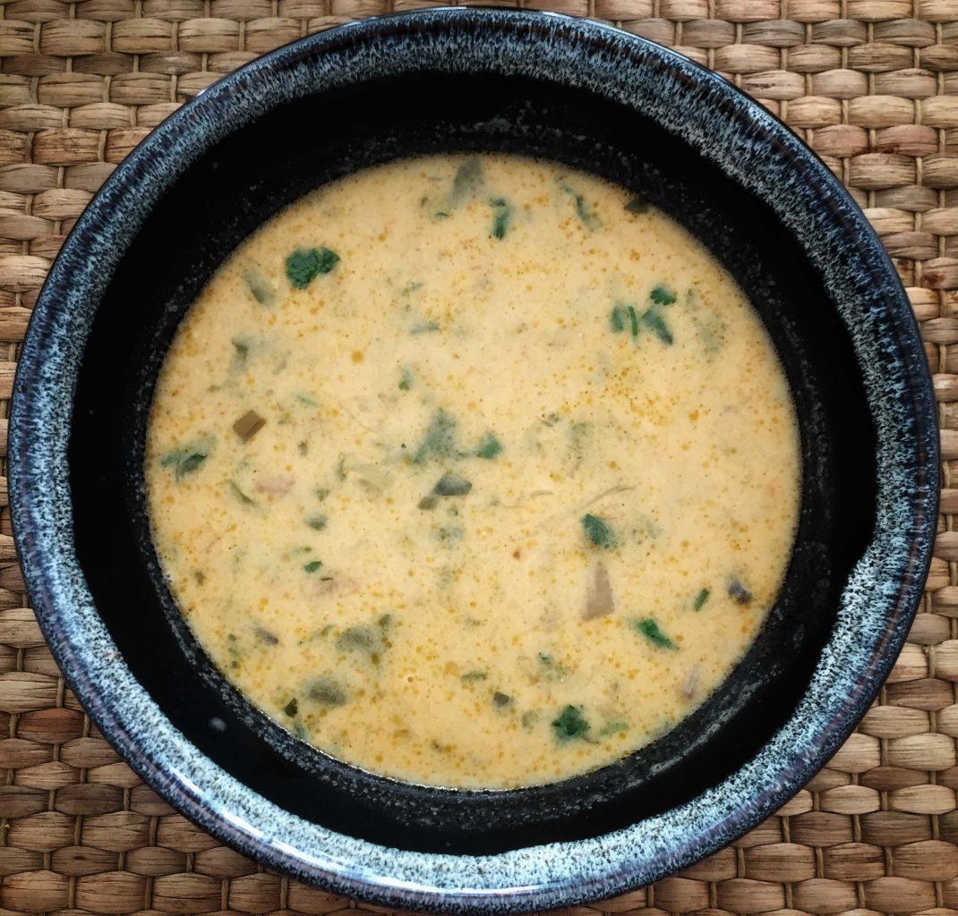 Sopa vegetariana Thai