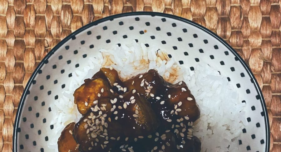 El tofu General Tso