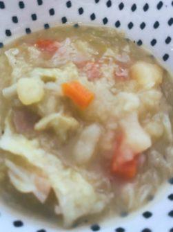 La sopa de repollo.