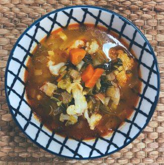 La sopa de verduras ahorradas