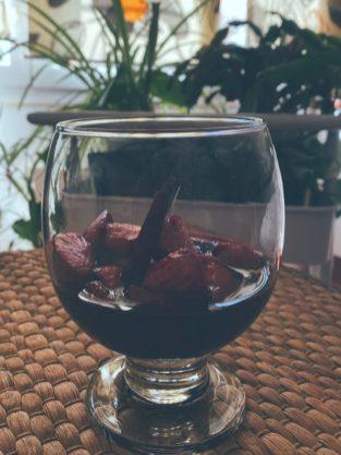 Las fresas al vino tinto