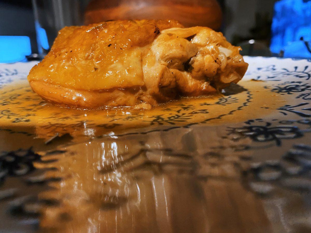 El pollo guisado al vinagre de Módena