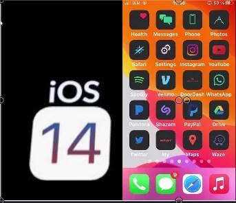 icônes ios 14