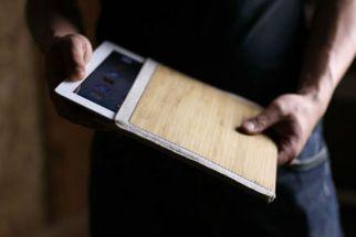 Bambu dá um ar artesanal a peça.