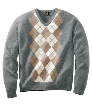 Um típico suéter com padrão argyle