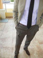 Este exemplar com bolsos na frente não é dos meus preferidos, mas tem seus fãs, principalmente entre a galera do blazer e gravata.