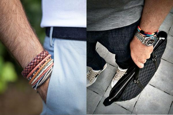 Muitas pulseiras ficam melhores com cores mais amenas para não carregar, quem optar poucas peças pode exagerar nos tons.