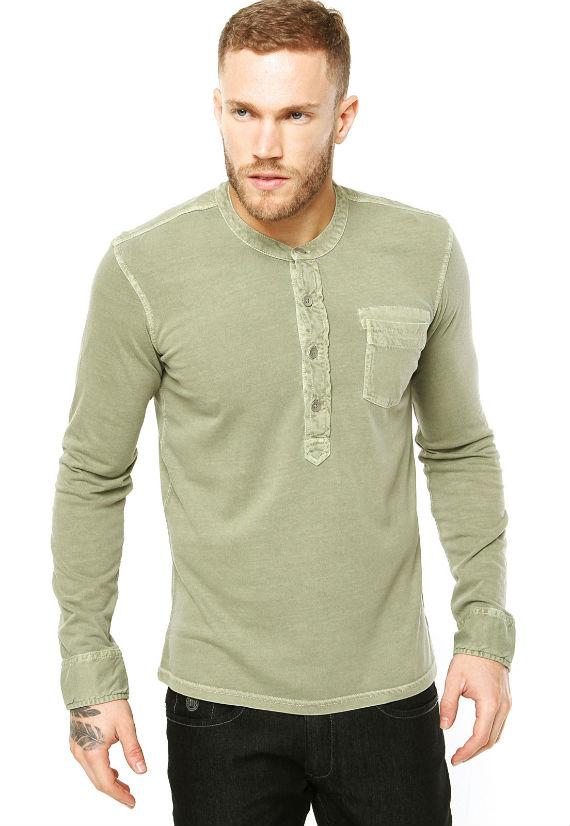 Benetton-Camisa-Verde-dafiti