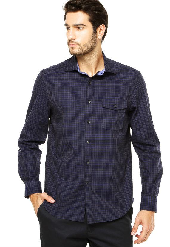Richards-Camisa-Richards-Azul-xadrez