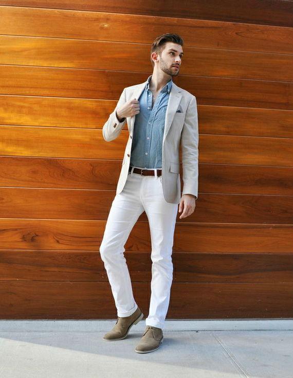 Look masculino com calças brancas