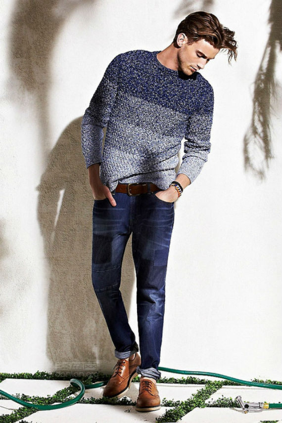 look masculino com blusa sweater de tricô