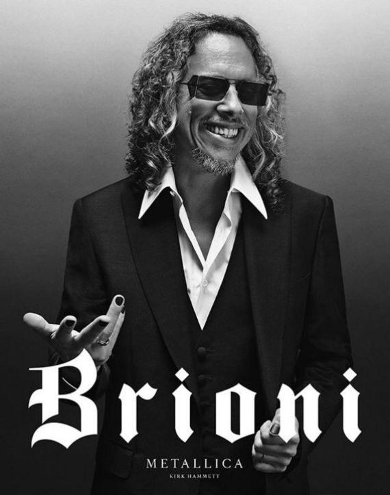 Metallica Estrela Nova Campanha Da Grife Italiana Brioni