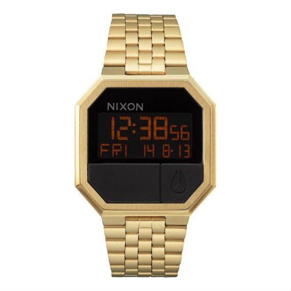 nixon-relogio-digital-dourado-vintage