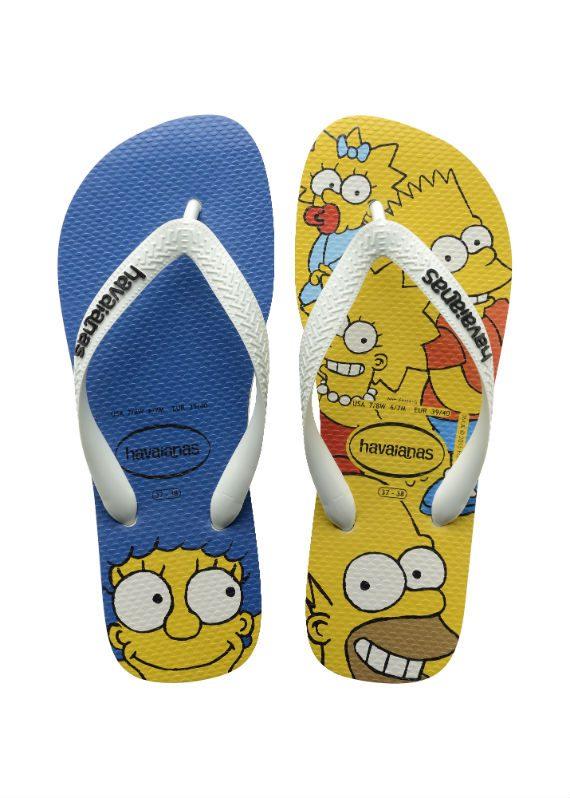 Havaianas dos Simpsons Chegam às Lojas