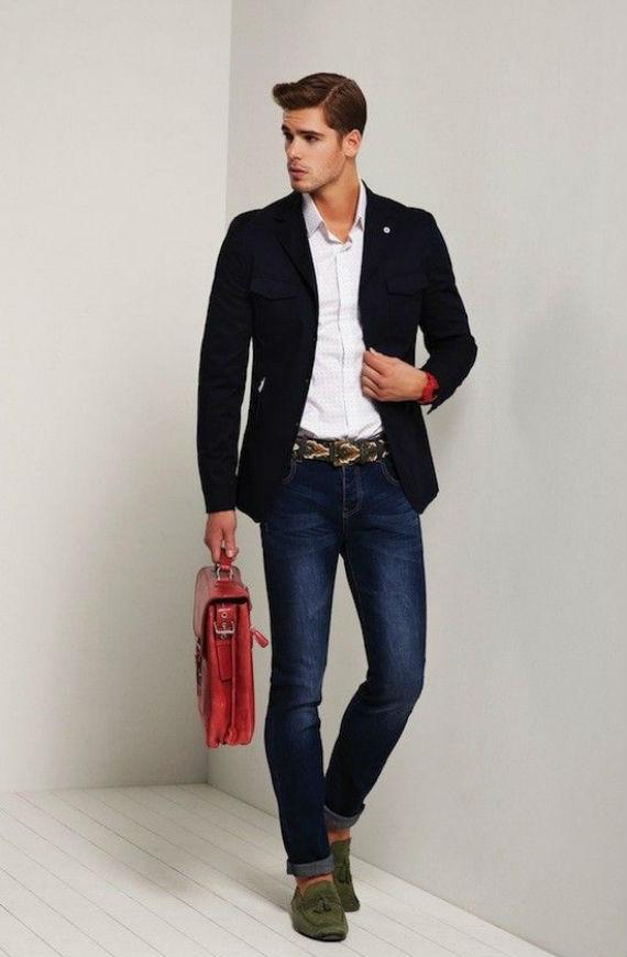 Combinação Imbatível: Blazer Marinho, Camisa Branca e Jeans