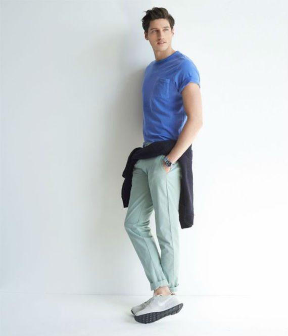 roupa masculina para outono com cores vibrantes