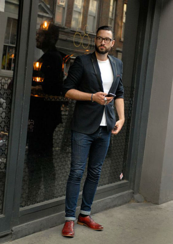 Men Dark Blue Jeans
