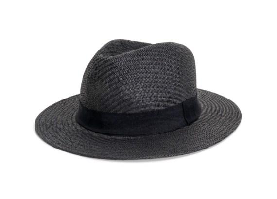 Chapéu panamá de palha escura