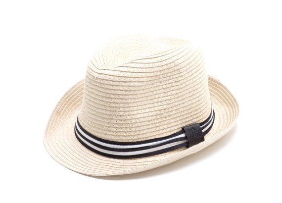 Chapéu modelo trilby de palha (celulose)