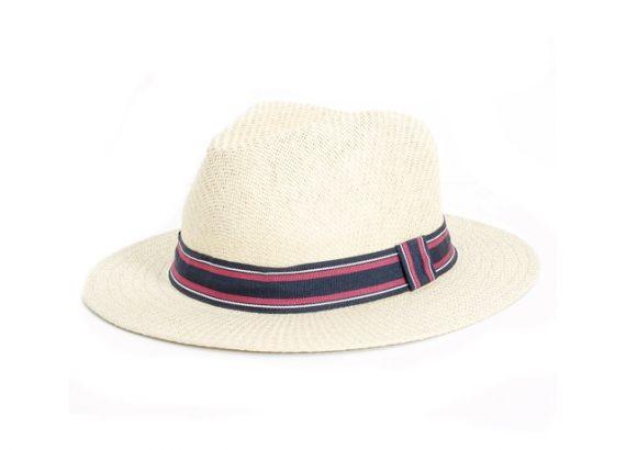 Chapéu com faixa listrada