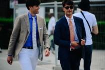 Two men wearing pattern ties