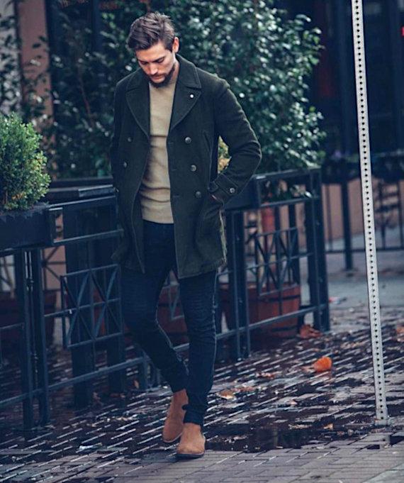 O Look Certo: Com Pea Coat Verde Musgo