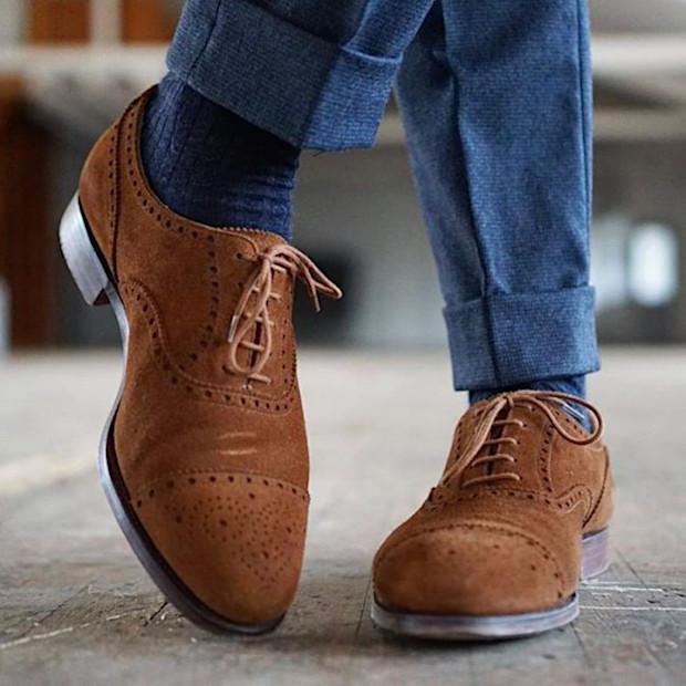 Tipos de Couro de Sapato - Camurça
