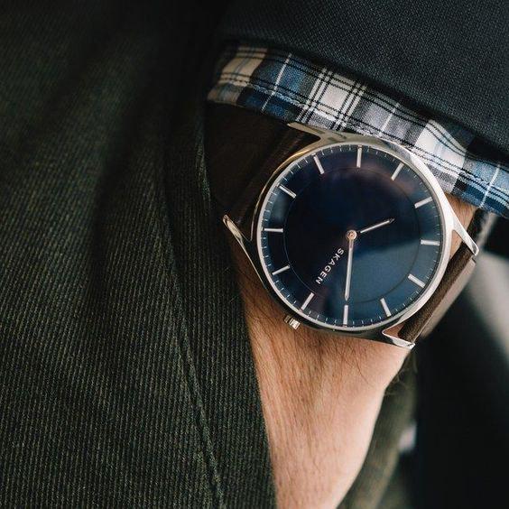 6 Relógios Masculinos Com Pulseira de Couro Para Comprar On Line