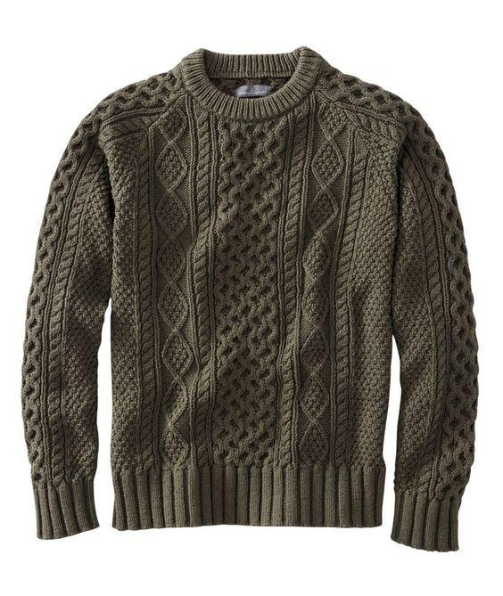 A História do Suéter de Tricô Masculino - Suéter tipo Aran