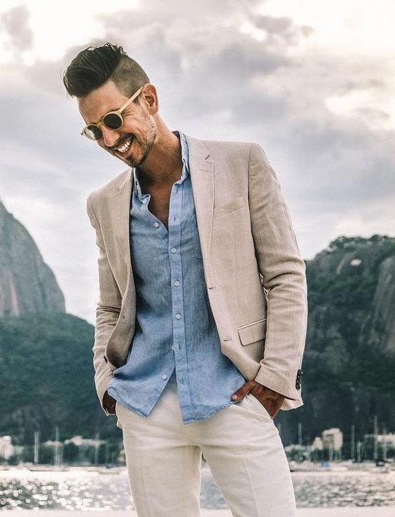 Tendências da Moda Masculina Para o Verão 2021 - linho e calças brancas