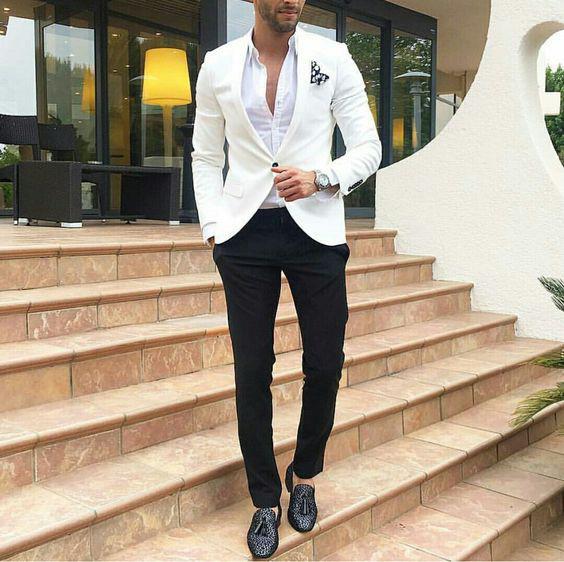 Como Combinar Cores na Moda Masculina - Preto e branco