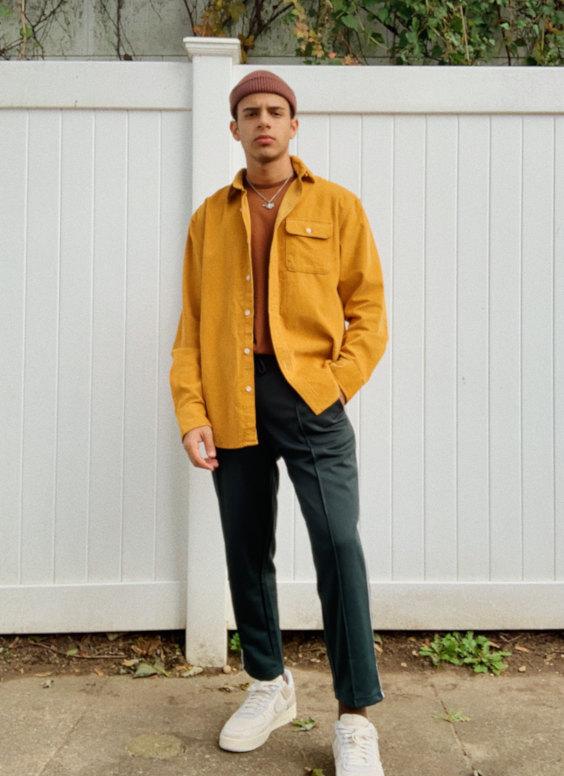 Overshirt Masculina com cores contrastantes
