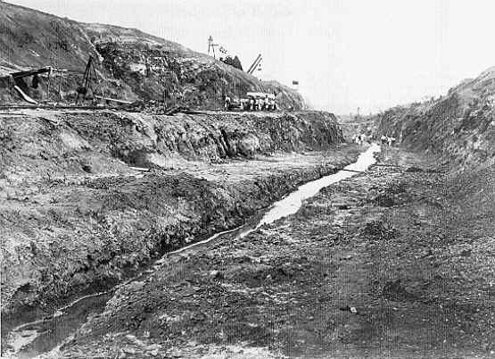Panama Canal Construction Historic Photo - Culebra Cut 1898