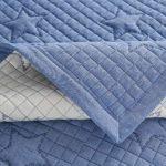 PearlMilkTea001 L Housse de canapé d'angle en coton Gris Gris 110 x 180 cm, Gris/bleu., 90x240cm1pcs
