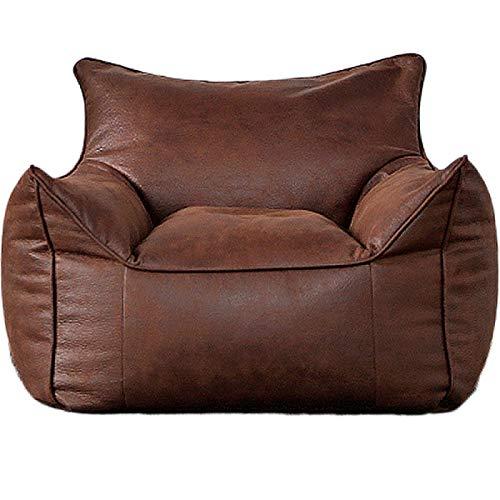 ZHEBEI Canapé en cuir paresseux canapé housse de chaise sans rembourrage canapé d'angle tatami