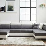 Bestmobilier – Lisbona – Canapé d'angle panoramique – 7 Places – avec têtières réglables – Droit