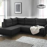 Lisa Design – Arya – canapé d'angle Convertible – avec Coffre – 5 Places – Style Contemporain – Gauche