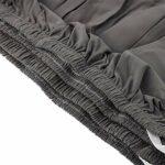 Wakects Housse de canapé d'angle avec méridienne gauche/droite, avec méridienne élastique, 3 + 2 places, en polyester, anti-taches, facile à nettoyer, housse de protection pour canapé (Gris)